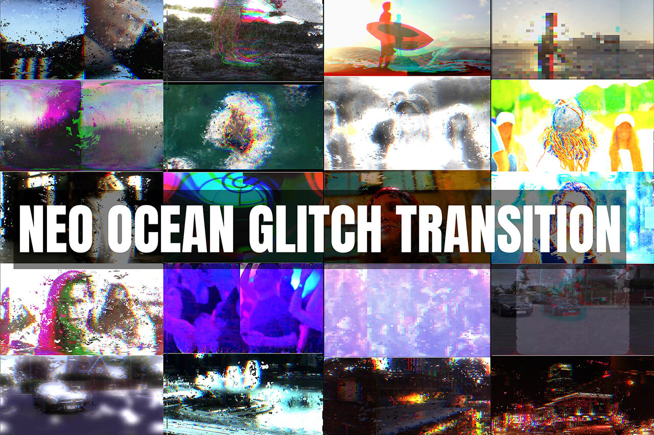 20 Ocean Glitch transition Banner