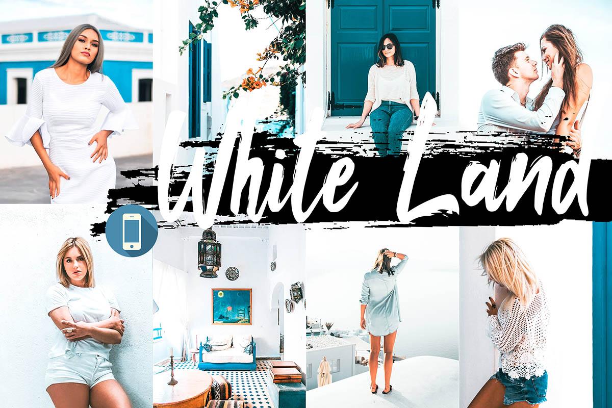 5 White Land Mobile Lightroom Presets