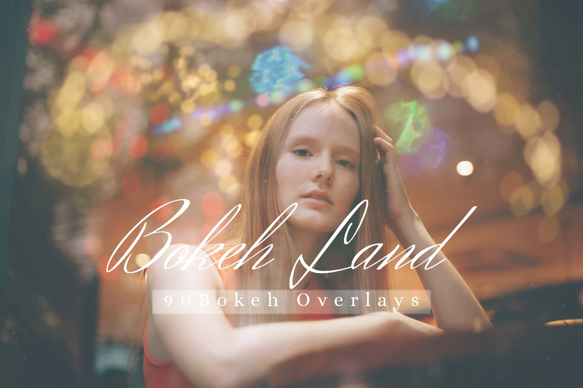90 Bokeh Land lights Effect Photo Overlays