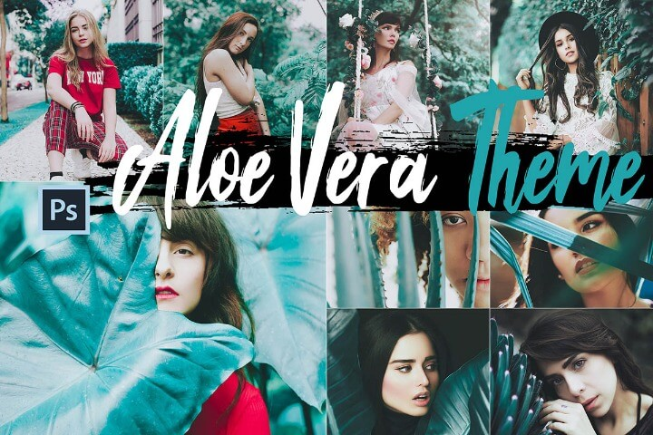 Aloe Vera Photoshop Actions ACR Presets