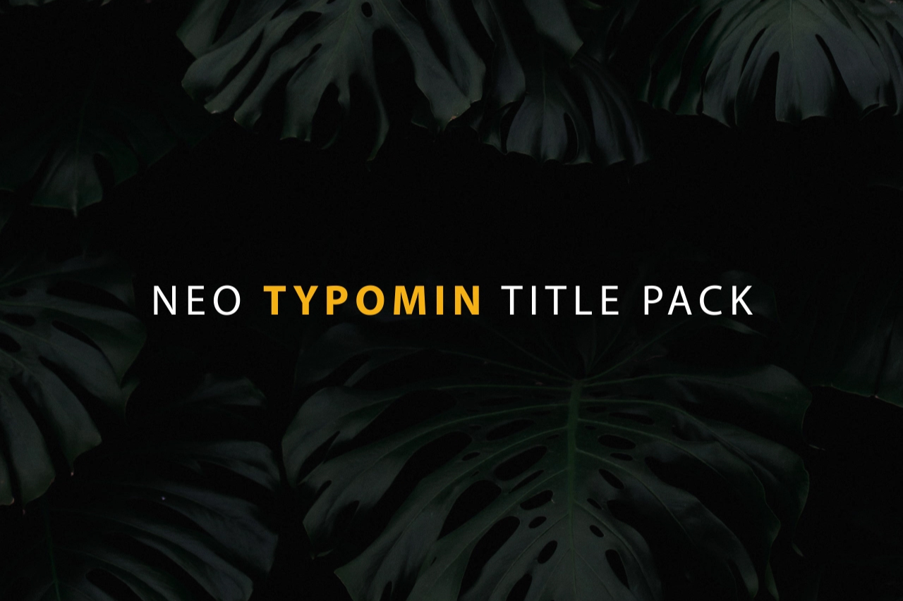 Typomin Title Pack Banner