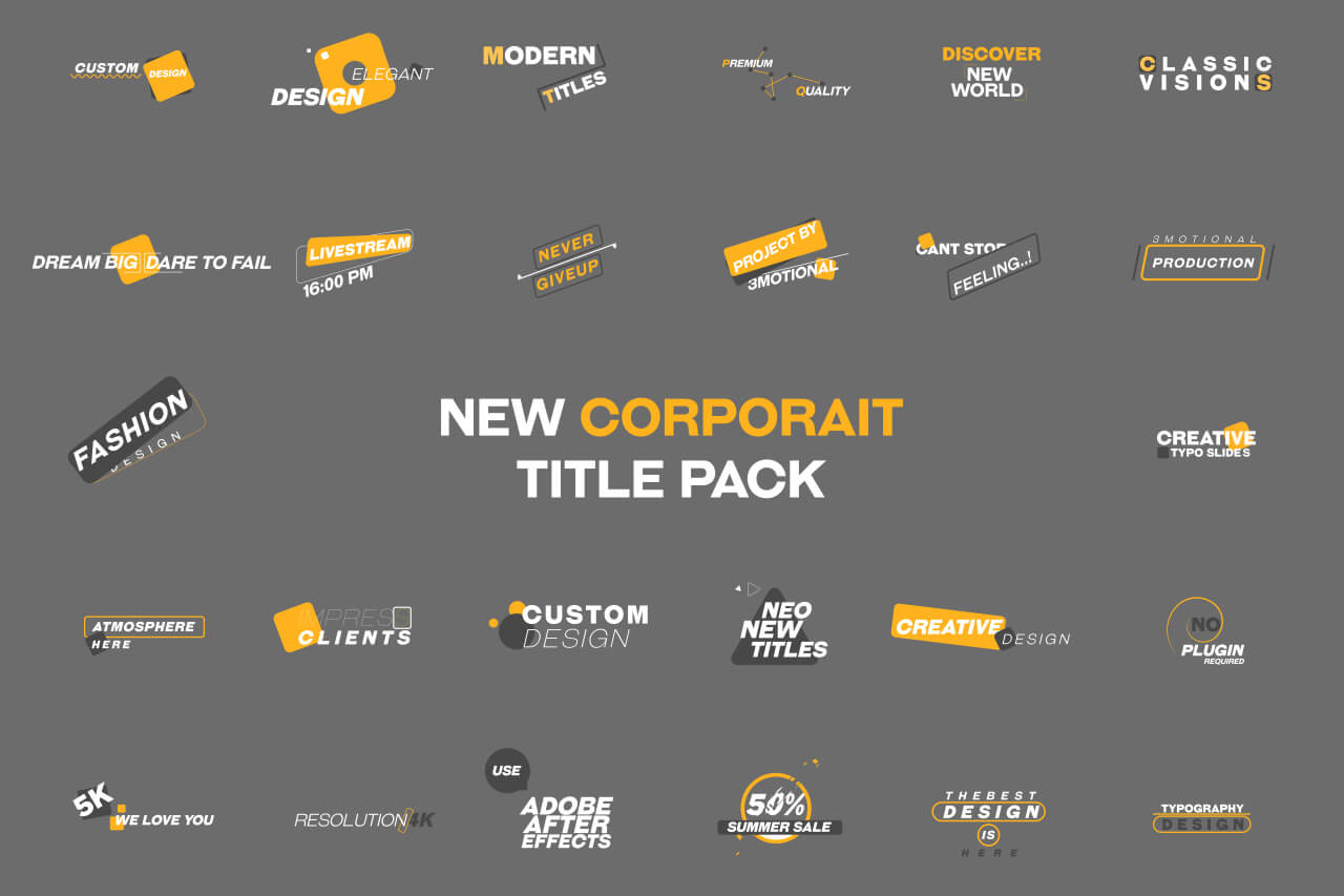 Corporate Title Pack MOGRT Premiere Pro Motion Graphic Template