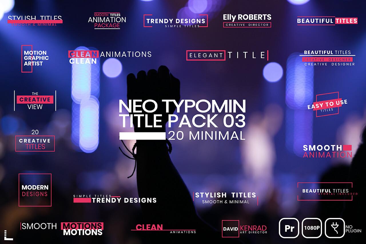 20 Typomin Title Pack 03 MOGRT