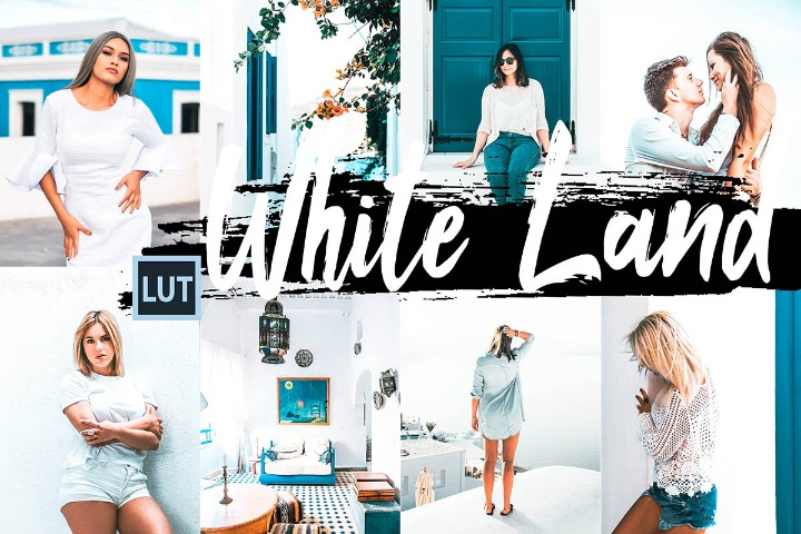 White Land LUT Presets Photoshop Premiere Aftereffects