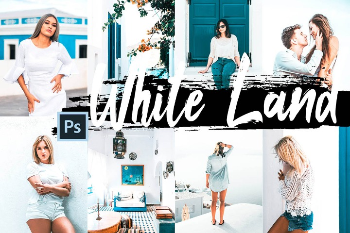White Land Photoshop Actions, ACR Presets ATN