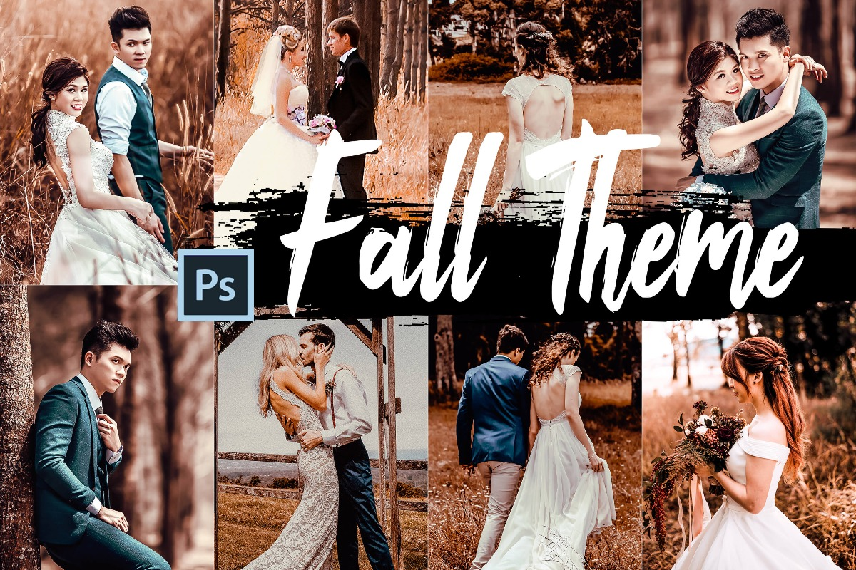 5 Fall Photoshop Actions, ACR presets