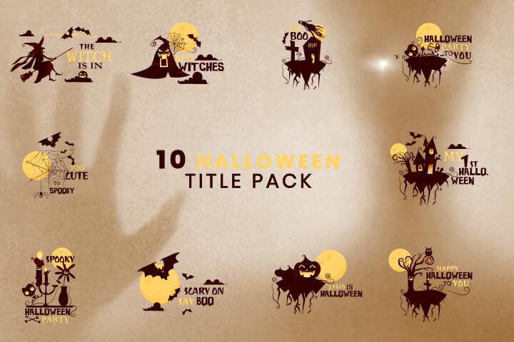 10 Halloween Title Pack MOGRT