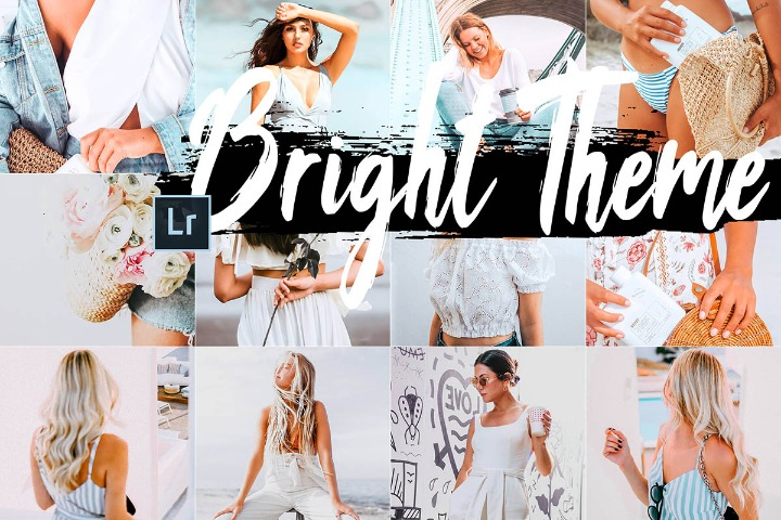 Bright Desktop Lightroom Presets and ACR preset, light filter white LR theme adobe photographer editing blogger Instagram lifestyle