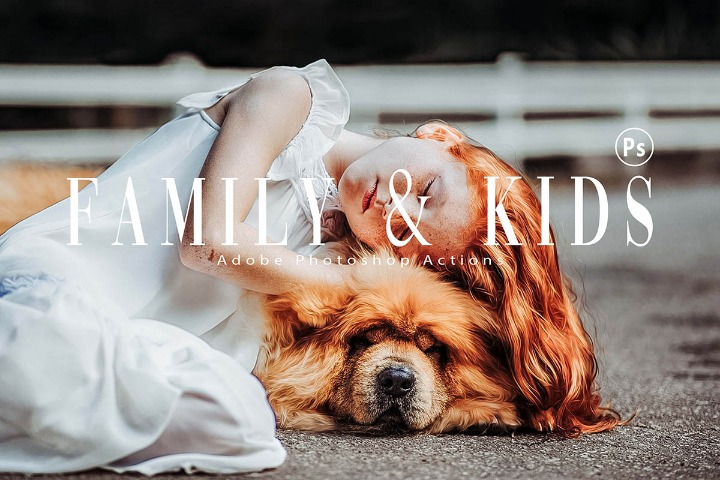 Family & Kids Photoshop Actions, ACR presets, children photography ps action