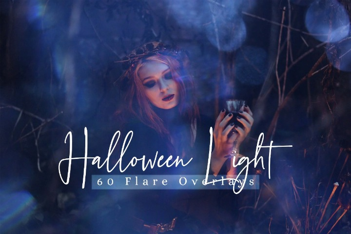 Halloween lights Effect Photo Overlays, Different Overlay Sparkles effects digital backdrop