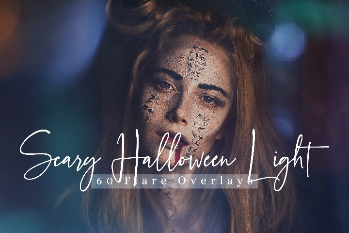 60 Scary Halloween lights Effect Photo Overlays, Different Overlay Sparkles effects digital backdrop,