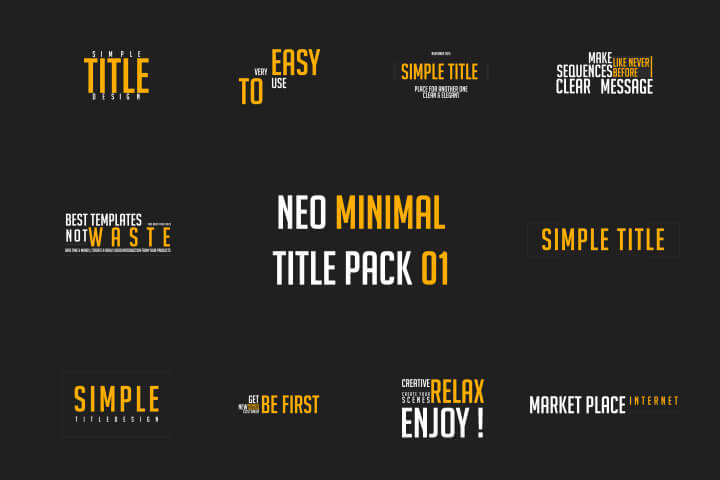 10 Minimal Title pack 01 motion graphic MOGRT Premiere Pro