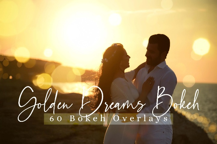 60 Golden Dreams Bokeh lights Effect Photo Overlay, Wedding Overlay Sparkles effects digital backdrop, Professional bokeh overlay