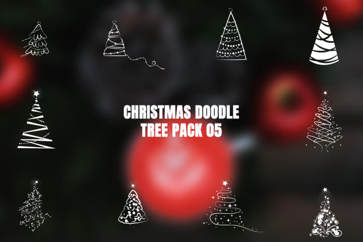 Christmas Doodle Tree Pack 05 MOGRT