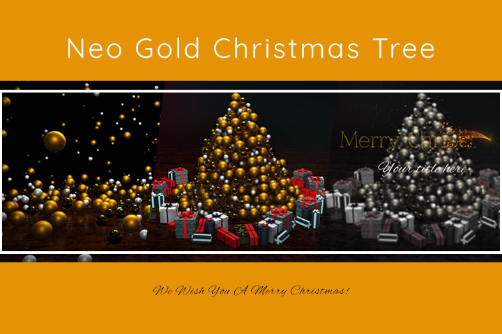 Neo Golden Christmas Tree MOGRT