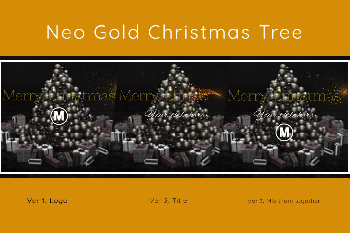 Neo Golden Christmas Tree AfterEffects Template
