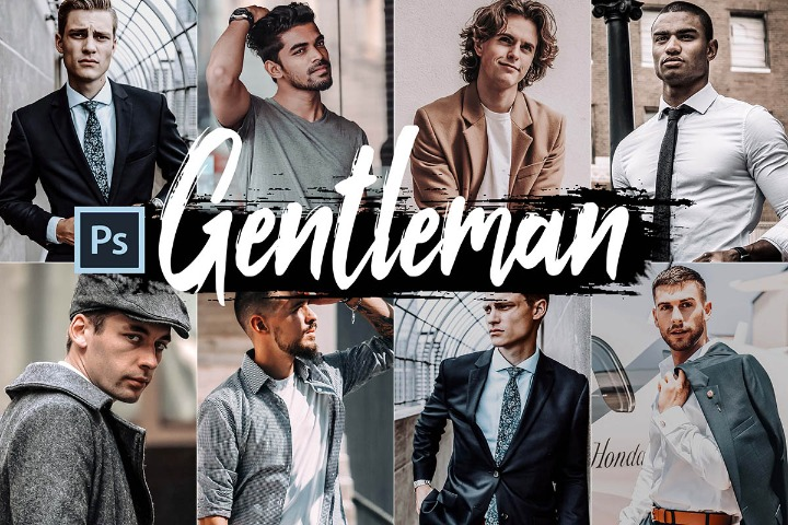Gentleman Photoshop Actions, ACR