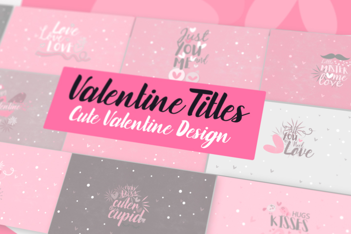 Neo Valentine SVGs Title Motion Graphic Template MOGRT