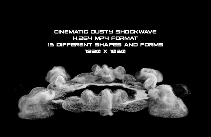 Cinematic Dusty Shock wave Stock Motion Graphic