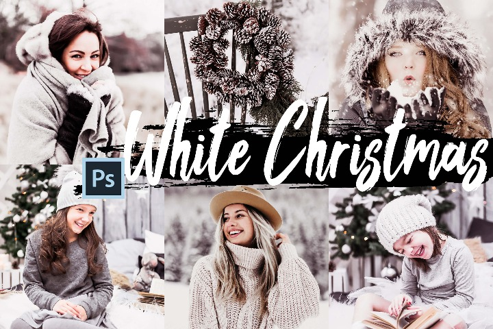 White Christmas bright photography Lightroom Presets Mobile Preset Lut filter photoshop color correcting theme