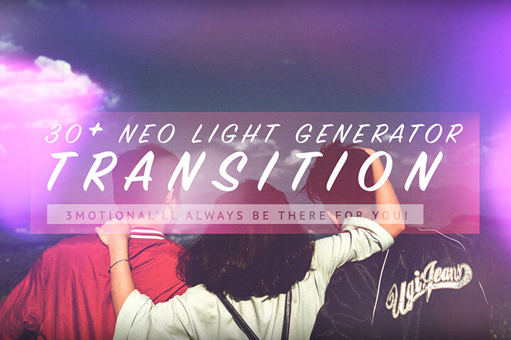 Neo light Generator Transition MOGRT Motion Graphic Template Premiere Pro