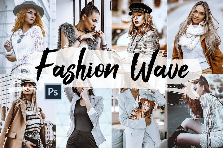 Fashion Wave Lightroom Presets and ACR preset, vogue photography portrait theme adobe filter editing fashion Instagram lifestyle Premiere Pro Luts Video color grading