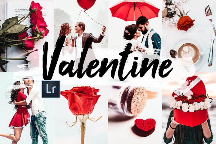 Valentine Lightroom Presets Photoshop action lut filter acr theme mobile lightroom tone video filter color correction