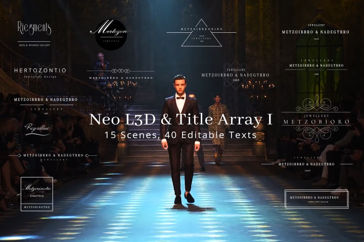 Neo L3D & Title Array I MOGRT Motion Graphic Template Primiere Pro