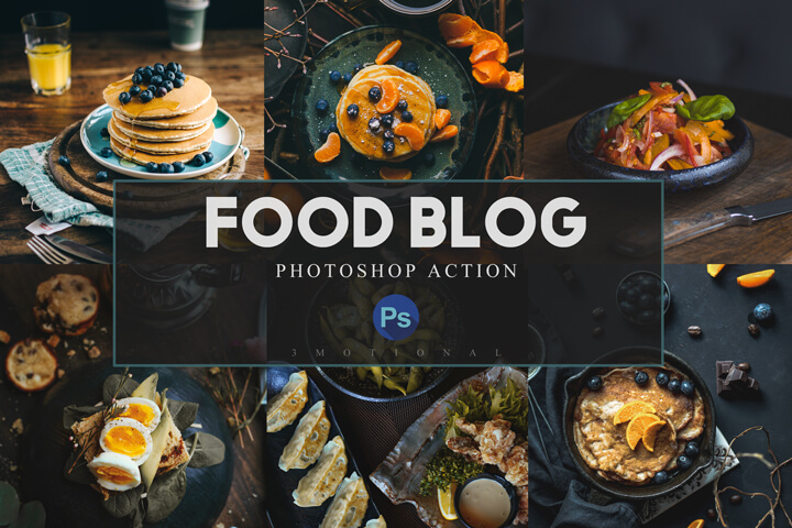 Photoshop Actions, ACR and LUT Presets, Food bloggers photography tone, Lifestyle Instagram filter, restaurant Influencer color correction