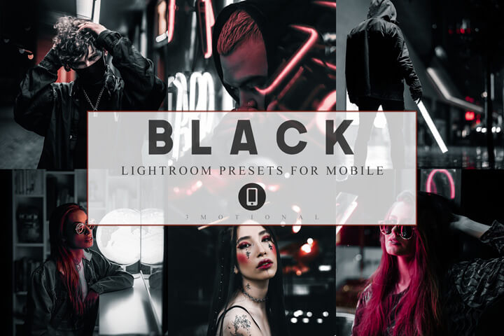 6 Mobile Lightroom presets Black Luxury Instagram Theme, Lifestyle Preset for Bloggers, Dark tone, Pictures Filter, Influencer Photographer