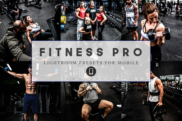 12 Mobile Lightroom Presets Fitness Pro Workout theme, Gym Sports Lifestyle Preset Instagram Blogger photo filter bodybuilding photography