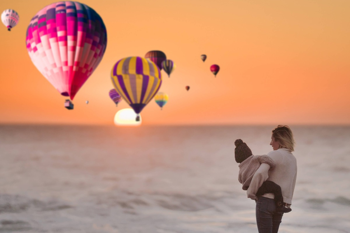Romantic Hot Air Balloon Photo Overlays, aerostat, Photography Overlays, Photoshop Mix overlay, clip art, clipart, Digital backdrop, png