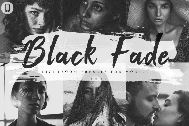 6 Mobile Lightroom Presets Black Fade Theme Instagram, Lifestyle Preset for Bloggers, Dark tone, Pictures Filter, Influencer Photographer