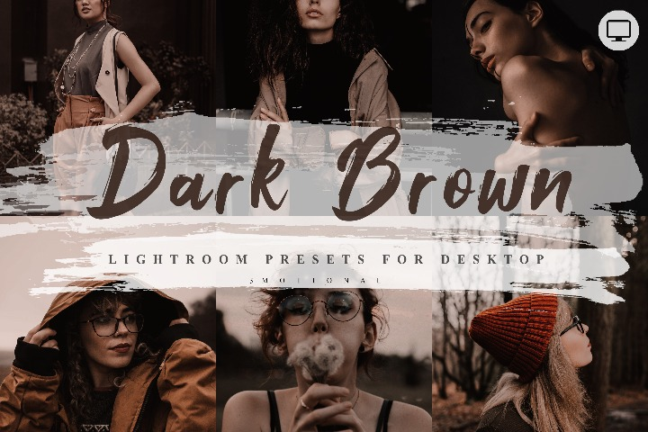 5 Dark Brown Lightroom Presets, Instagram Blogger Photo Filter, Outdoor, Bright style Indoor, Forest Preset, travel photographer influencer preset