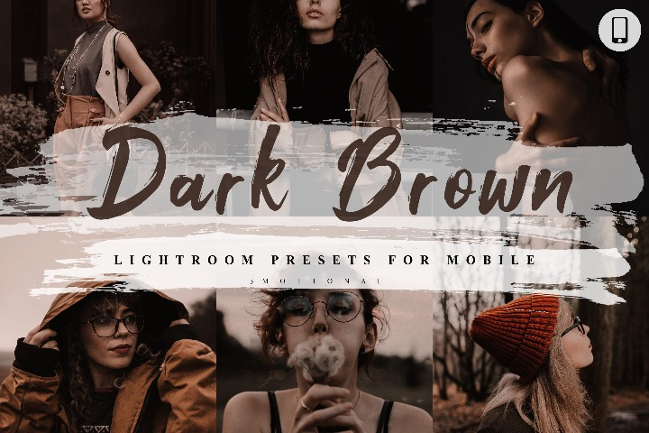 5 Dark Brown Mobile Lightroom Presets, Instagram Blogger edit Photo Filter Outdoor, Indoor &Forest Preset travel photographer influencer preset