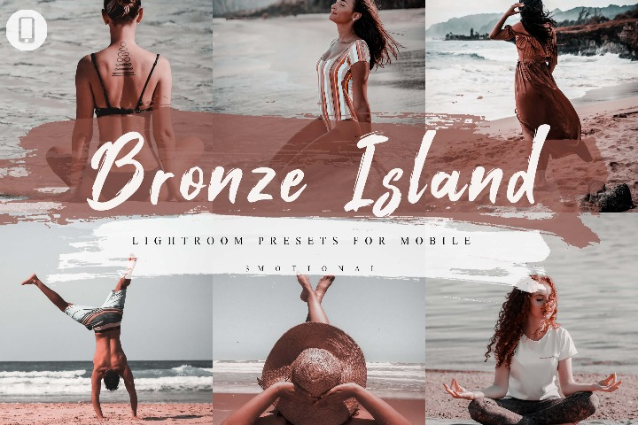 5 Bronze Beach Lightroom Presets, Instagram Blogger Photo Filter, Outdoor, Bright style Indoor, Beach Preset, travel photographer influencer preset