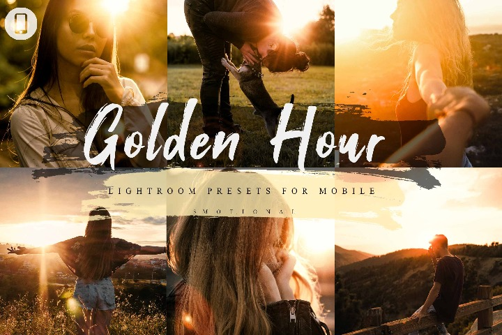 5 Golden Hour Mobile Lightroom Presets, Instagram Blogger edit Photo Filter , Portrait & Preset travel photographer influencer preset