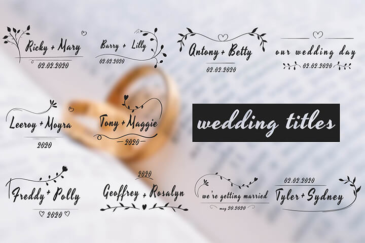 The Wedding Titles is a beautiful and simply animated Template