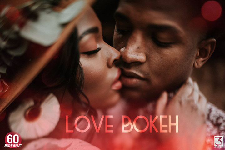 60 Love Bokeh Overlays dramatic glowing ps filter, fade leak light effect Red, Valentine Bokeh, jpeg file backdrop, photographer tools