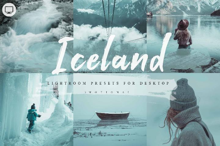 10 Iceland Photoshop Actions, ACR and LUT Presets, Instagram filter, Blue tone, Aqua, Outdoor, Snow, travel, Moody, Event, Portrait, Style Mobile Preset, Lightroom Desktop, Mobile lightroom, camera raw,