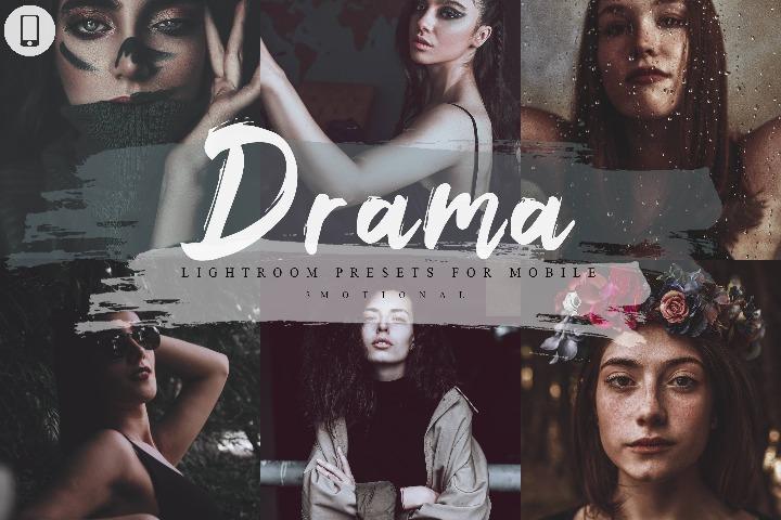 14 Drama Mobile Lightroom Presets, Lightroom Presets, lut photo filter, Photoshop Action, ACR Camera Raw, XMP, Cube File, atn file,