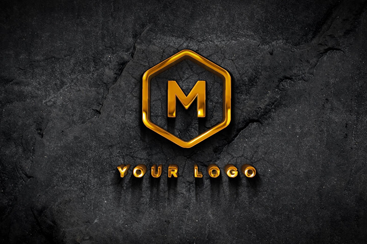 """Cinematic 3D Golden Logo"" is realistic After Effects template"