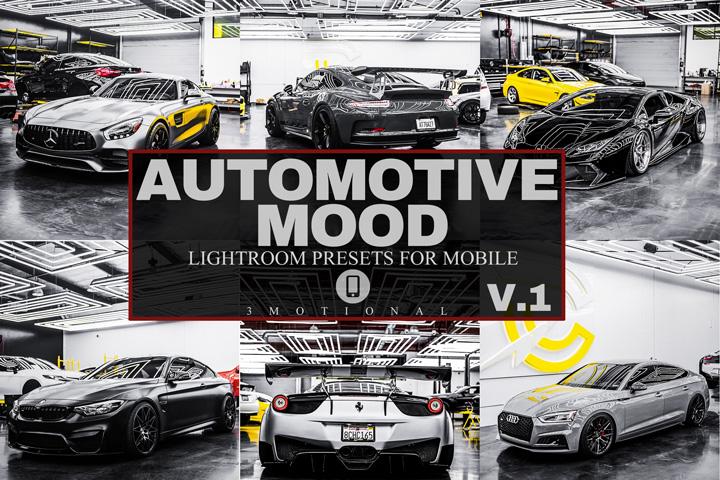 12 Automotive Mood Mobile Lightroom Presets V.1, luxury lifestyle dark moody black sports car lover Instagram photo filter, PRO Photography