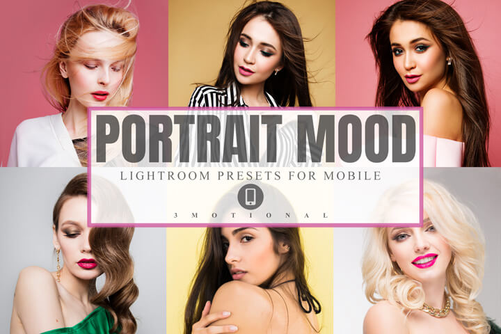 22 Portrait Mood Lightroom Presets, glowing skin makeup, fashion blogger bright selfie face color vibrant, Indoor Outdoor photography effect Mobile Lightroom, Photoshop Action, Lut Photofilter, ACr camera raw Cube, Xmp file