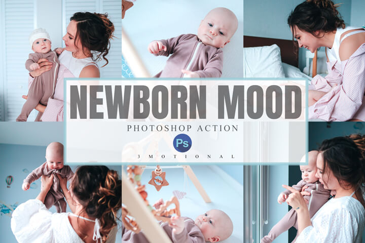 6 Newborn Mood Mobile Lightroom Presets, sweet baby Cute children portrait filter, professional bright and airy clean photographer effect, Lightroom presets, lut video filter, acr xmp camera , photoshop action,