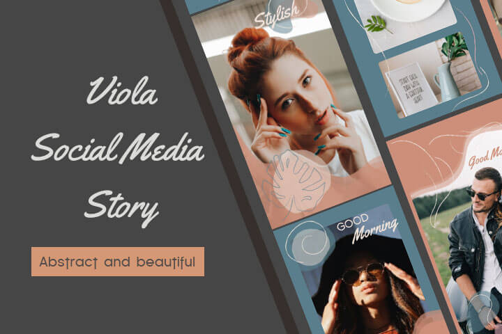 Viola Social Media Story Pack Aftereffects template