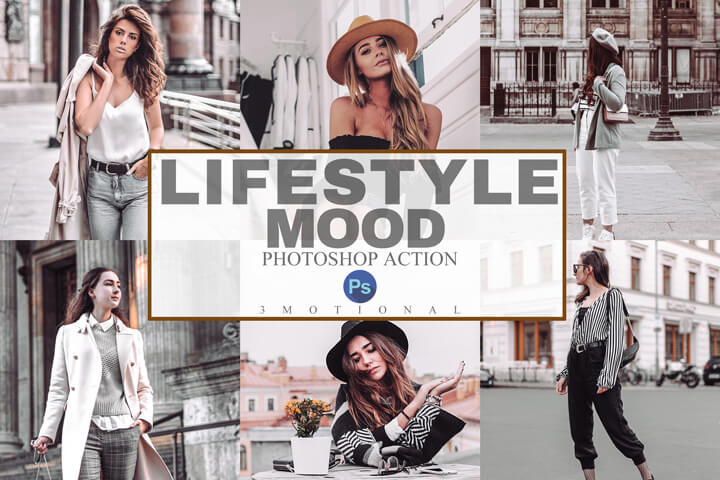 7 Lifestyle Mood Lightroom Presets, celebrity lifestyle, Instagram filter, street style blogger, warm tone Fashion Influencer, easy to use