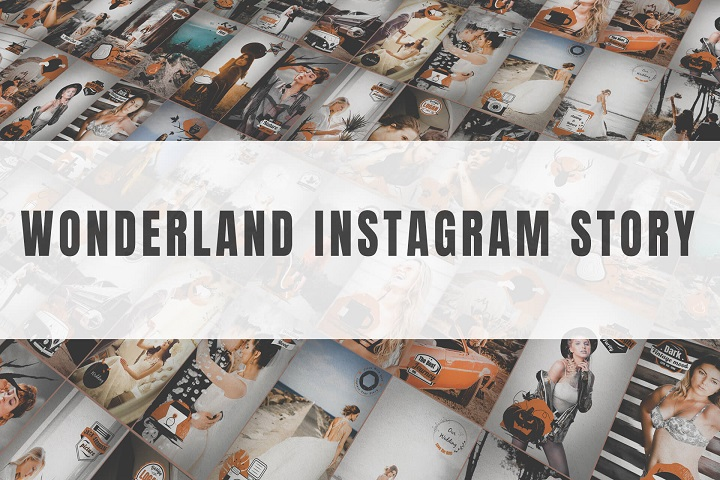 Wonderland Instagram Story After Effects Template