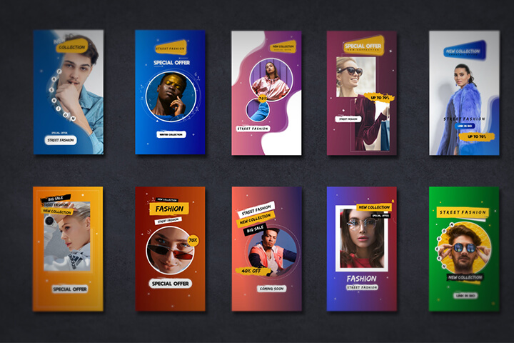 Creative Fashion Promo Story Aftereffects Template