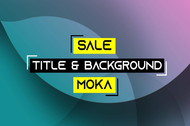 Sale Title & Background MOKA Aftereffect Template